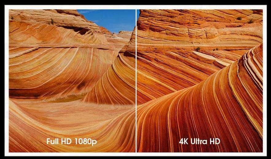 Difference entre HD et Ultra HD