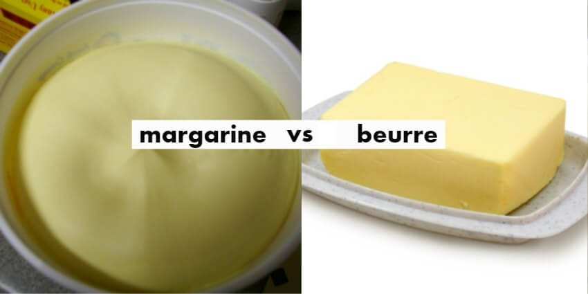 Difference entre beurre et margarine